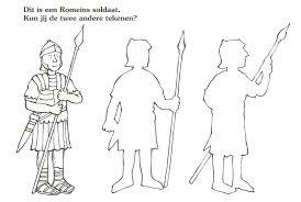 Dit Is Een Romeinse Soldaat Kun Jij De Andere Twee Tekenen