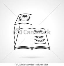 Layout Of Magazine Flat Line Vector Icon