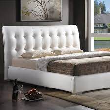 baxton studio jeslyn transitional white faux leather upholstered king size bed 28862 4422 hd the home depot