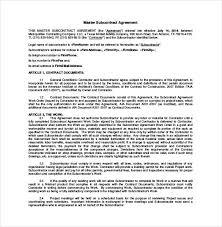 Subcontractor Agreement Format Subcontractor Agreement Texas Metierlink Com