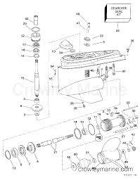Omc Stern Drive Propeller Chart Lower Gearcase Single Prop 1998 Omc Stern Drive 4 3