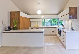 White Floor Kitchen Kitchen Kitchen Design Gallery In Modern And White Theme With