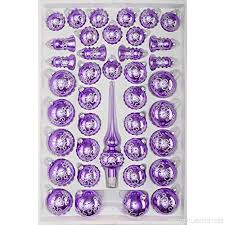 39 Tlg Glas Weihnachtskugeln Set In Hochglanz Lila