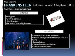 Frankenstein Letters 1 4 and Chapters 1 & 2 Symbols and Allusions