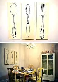 spoon wall decor wooden fork and large 3 big wood extraordinary wal
