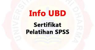 Sertifikat Pelatihan Sertifikat Pelatihan Spss Universitas Buddhi Dharma