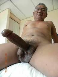 Old grandpa cock black