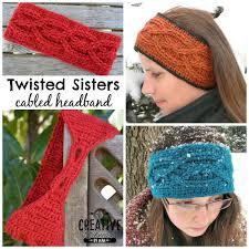 Crochet Headband Pattern Beauteous Free Crochet Headband Pattern Twisted Sisters Cre48tion Crochet