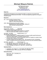 Standard Resume Format For Freshers It Resume Cover Letter Sample