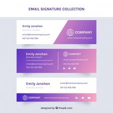 Company Email Signature Email Signature Collection In Flat Style Vector Free Download