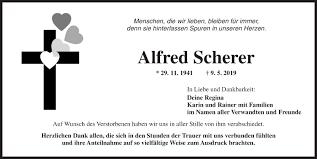 Traueranzeigen von Alfred Scherer | trauer.flz.de