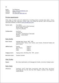 Resume Music resume Music Resume 34