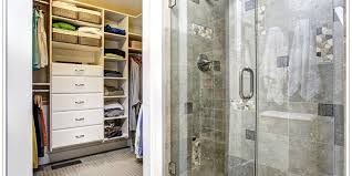 blog beautiful standing shower with a closet next to the left of it