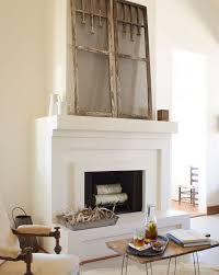 country style fireplace mantels the owner of this texas cottage snagged these window screens at a