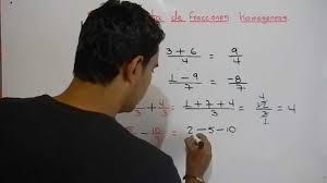 suma y resta de fracciones géneas ejemplo 1