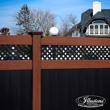 black vinyl privacy fence. Black-and-wood-grain-vinyl-pvc-fence-illusions-. Black-and-wood-grain-vinyl -pvc-fence-illusions- Black Vinyl Privacy Fence