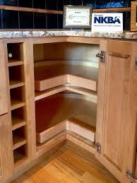 corner cabinet super susan doors open