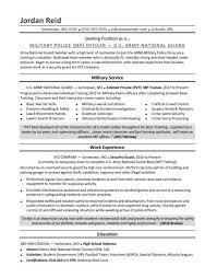 Resume Examples For Military Interesting Military Resume Sample Monster
