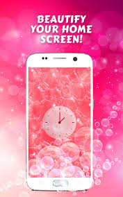 Cute Pink Analog Clock Wallpaper For ...