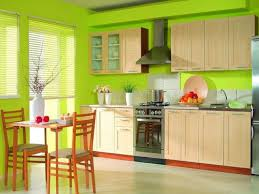 kitchen lovely green kitchen wall design with wood kitchen set including oak island and cherry