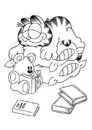 Garfield Slapen Garfield Kleurplaten Kleurplaatcom