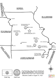 Small Picture Missouri Map coloring page Free Printable Coloring Pages