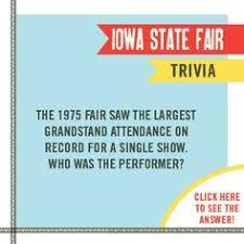Iowa State Fair Grandstand Seating Chart 10 Best Iowa State Fair Trivia Images Iowa State Fair