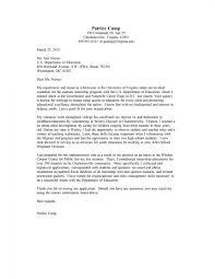 Cover Letter Sample Uva Career Center Internship Examples For