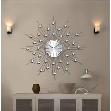 sunburst mirrored wall clock