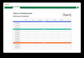 Free Scheduling Templates Employee Shift Scheduling Spreadsheet Weekly Schedule Template Free