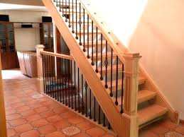replace stair railing. Indoor Stair Stringer Interior Railings Solid Railing Kits Wrought Iron Design Height Stairs How To Install Stringers On A Deck Replace