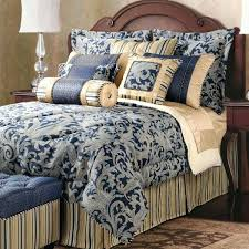 blue and gold bedspread gold silk bedding set for with regard to navy and comforter decor blue and gold bedspread