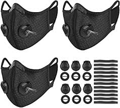 UBRU 3 Set Sports <b>Cycling</b> Masks with <b>Activated Carbon</b> Filter, 6