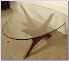 Kidney Shaped Glass Top Coffee Table Wood And Glass Kidney Shaped Coffee Table Coffee Table Home