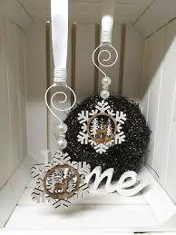 Fensterdeko 2 Set Weihnachten Schneeflocken Mit Hirsch Holz