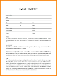 Event Coordinator Contract Template 24 Event Contract Sample Business Opportunity Program 18
