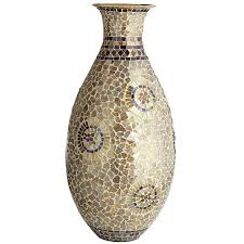 Large Decorative Urns And Vases Champagne Gold Mosaic Urn Vase Pier 100 Imports 72