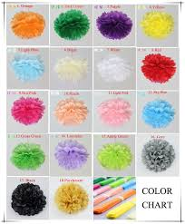 Party Decorations Tissue Paper Balls DIY 100 inch 100 cm Decorative Tissue Paper Pom Poms Flower Balls 27