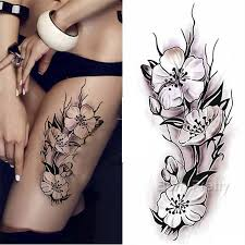 2 96 1 sheet waterproof temporary tattoo sticker plum blossom pattern diy arm art decal bornpretty com