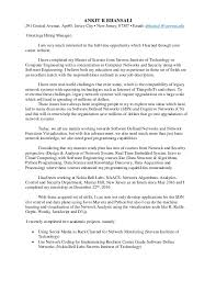 Work Cover Letter Adorable Best Solutions Of Cover Letter For Computer Networking Job Cover