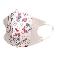 ten pieces of o kitty sanrio influenza cold meres prevention for the woman for the child solid mask three levels structure nonwoven fabric solid mask