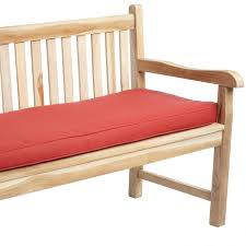 Interior Red Outdoor Bench Cushions For Minimalsit Patio Decor