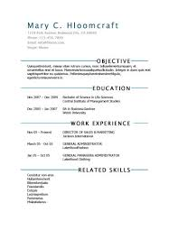 simple resume templates • hloom comcommencing
