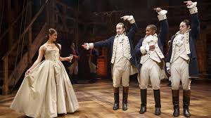 a touring version of hamilton shown here with its original broadway cast