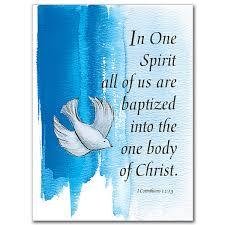 baptism cards in one spirit child baptism card