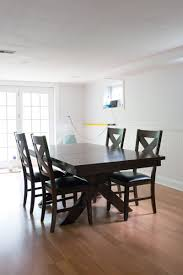 Before And After Diy Chalk Paint Dining Table And Chairs Shrimp