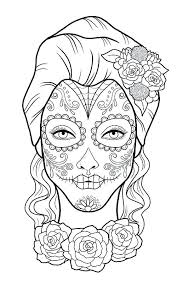 Day Of The Dead Coloring Pages Free Printable Day Dead Colori Pages