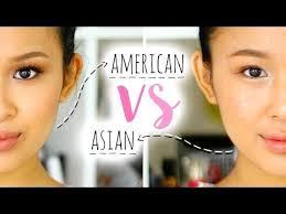 american makeup vs asian makeup makeup transformation