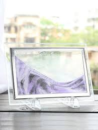 3d hourglass decorative craft sand painting frame picture light purple 22 x17cm