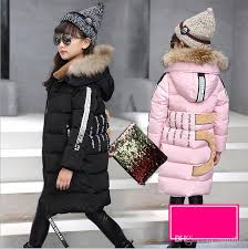 kids long parkas for girls fur hooded coat russian baby winter thick warm down jacket children outerwear infants girl overcoat spring coats for kids girl